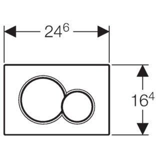 Geberit Sigma01 Abdeckplatte F 2 Mengen Spulung Fur Up320 Up300