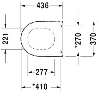 duravit wc sitz starck 3 mit deckel wei scharniere. Black Bedroom Furniture Sets. Home Design Ideas