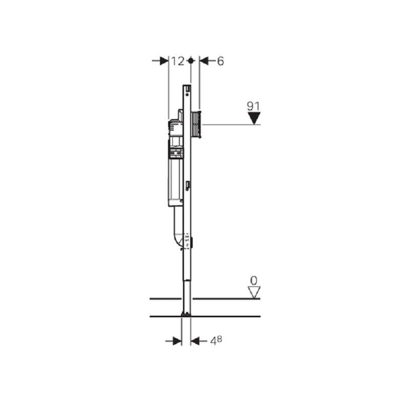 Geberit Duofix Element für Kinder- und Kleinkinder-Stand-WC, 112 cm, mit  Sigma UP-Spülkasten 12 cm