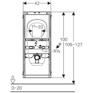 geberit urinal montageelement gis bauh he 1140mm f ap drucksp uu. Black Bedroom Furniture Sets. Home Design Ideas
